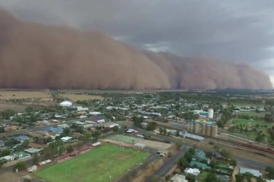 Dust Storms Descend On New South Wales
