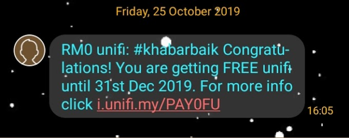 69 SIARAN DI UNIFITV -  #KHABARBAIK 3 BULAN TAK PAYAH BAYAR BIL UNIFI