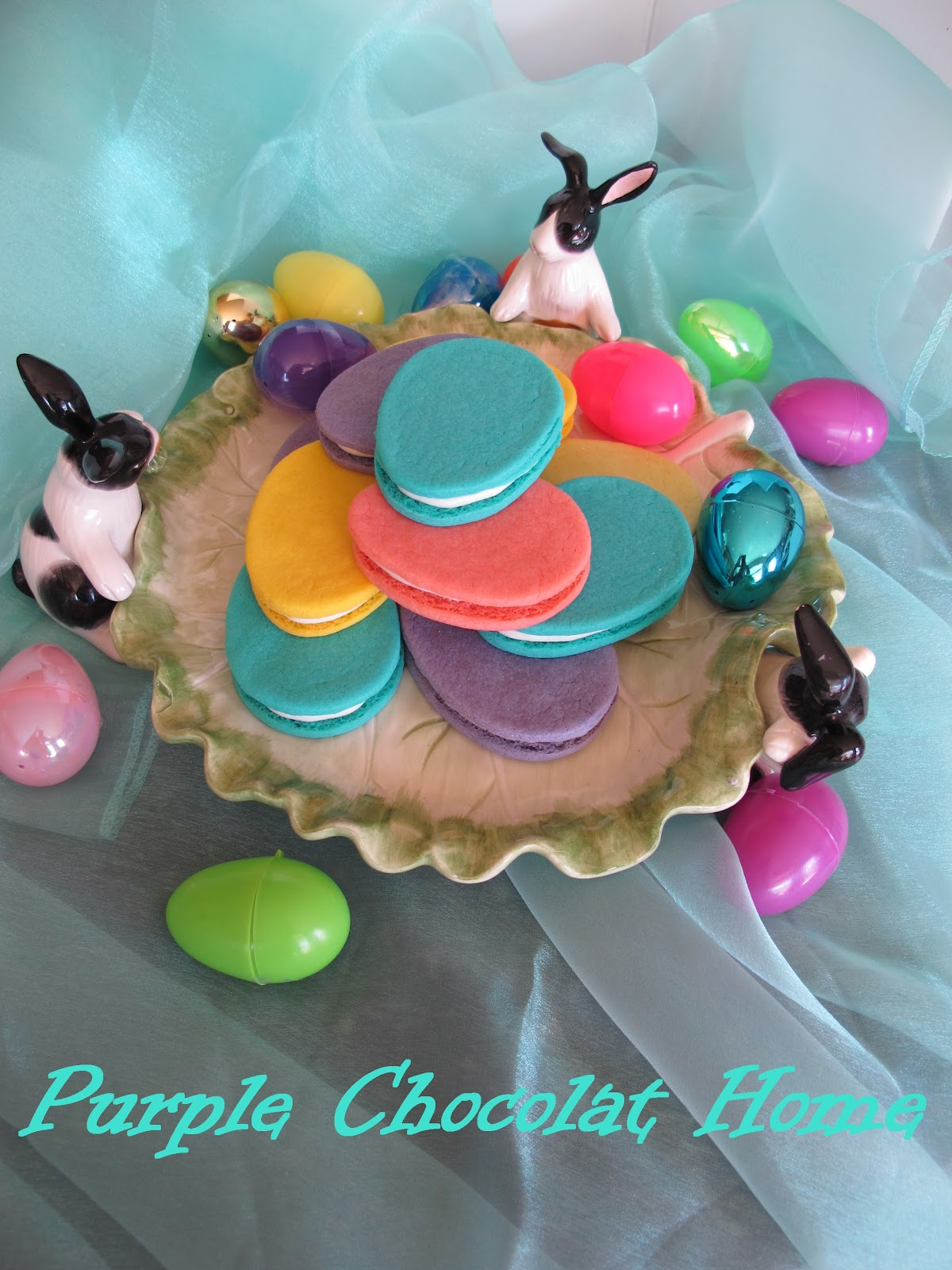 Vibrant Easter Egg Sandwich Cookies - Purple Chocolat Home