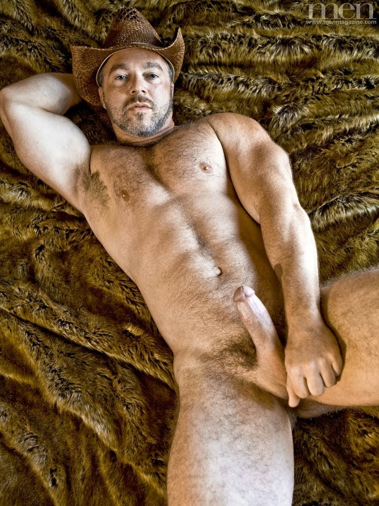 Old man cowboys naked hairy