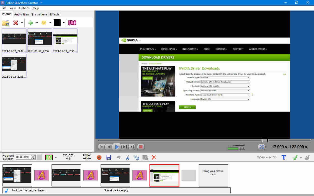 تحميل برنامج صنع فيديو من الصور والاغاني للكمبيوتر Bolide Slideshow