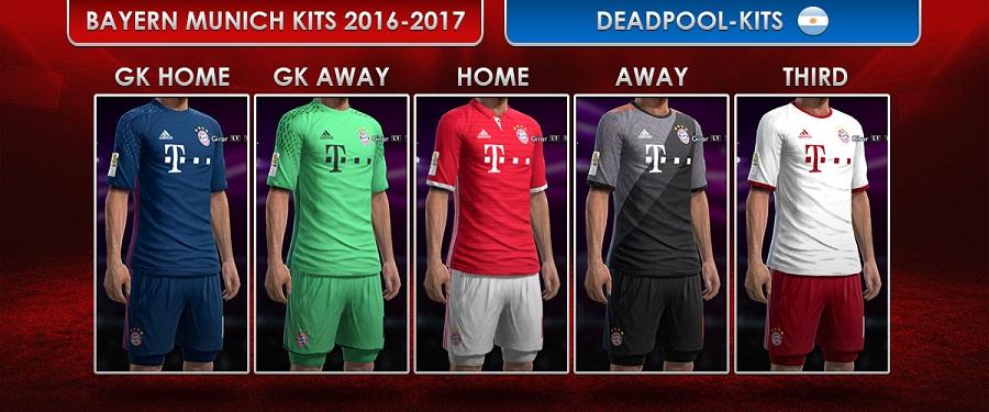 Pes 2013 Fc Bayern Munich Kits 2016 2017 By Deadpool Actualizacion