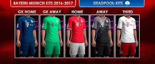 PES 2013 FC Bayern Munich Kits 2016-2017 by DEADPOOL