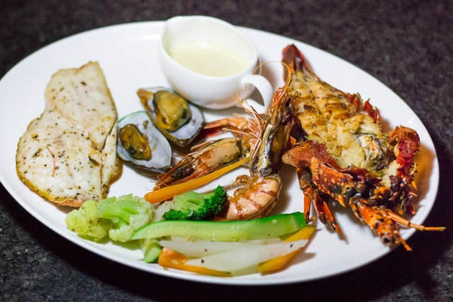 Grilled Seafood by Eight Degrees South Restaurant at Conrad Bali