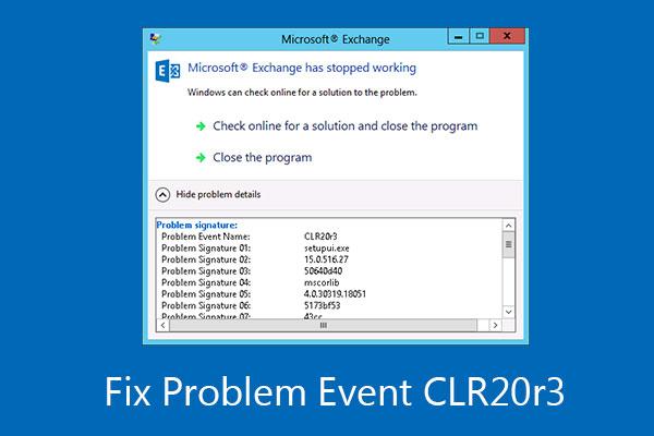 Khắc phục lỗi CLR20R3 khi khởi chạy ứng dụng trên Windows 10