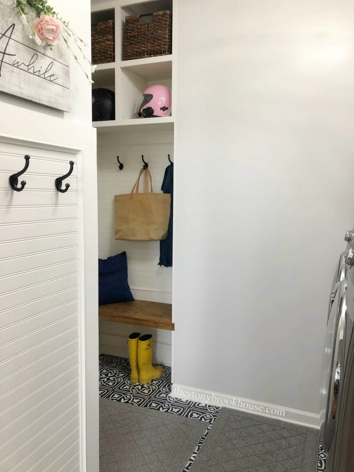 Laundry Area Transformed To Mudroom