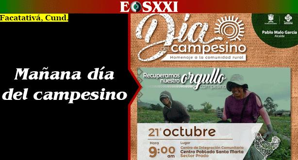 Mañana Facatativá celebrará el día del Campesino