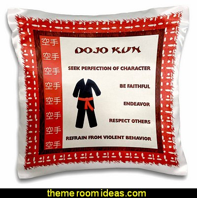 Japanese Martial Arts, Karate Rules, Red Belt throw pillow