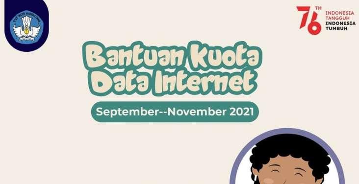 Batas Akhir Unggah SPTJM oleh Sekolah Untuk Bantuan Kuota Data Internet September - November 2021