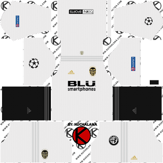 Valencia CF 2018/19 UCL Kit - Dream League Soccer Kits