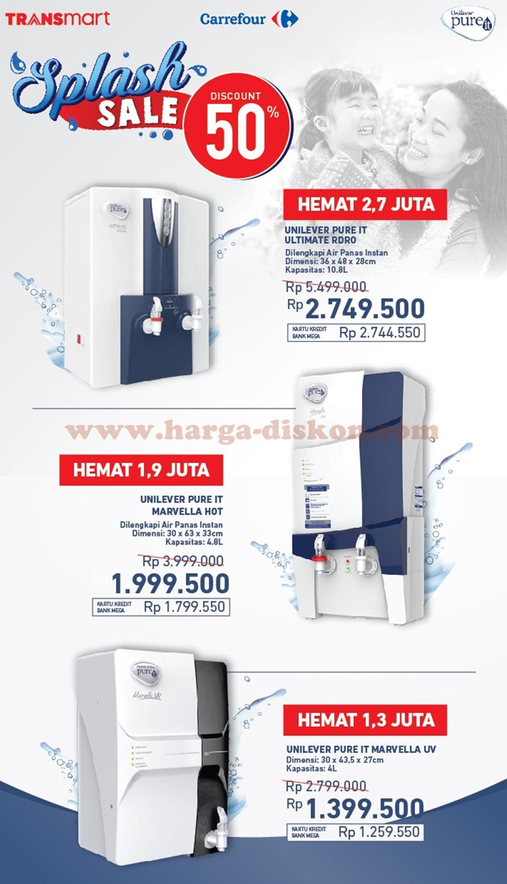 Promo Carrefour Splash Sale Diskon 50 Pure It Periode 10 12 Agustus 2018 Harga Diskon