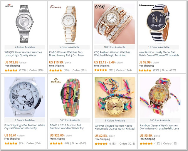 Os melhores relógios para mulher no AliExpress