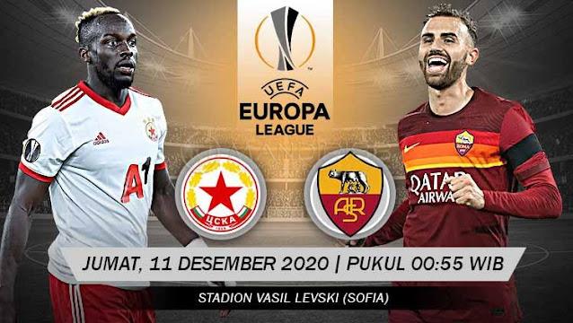 Prediksi CSKA Sofia Vs AS Roma, Jumat 11 Desember 2020 Pukul 00.55 WIB