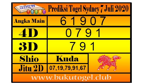 Prediksi Togel Sydney 7 Juli 2020