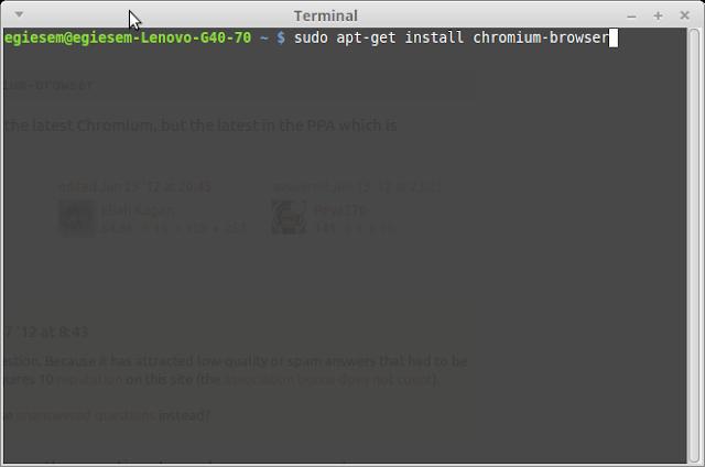 cara install chromium browser di linux ubuntu