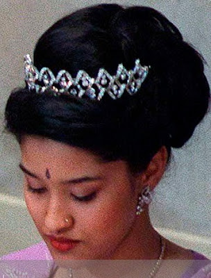 diamond drop tiara nepal princess shruti rajya laxmi devi shah