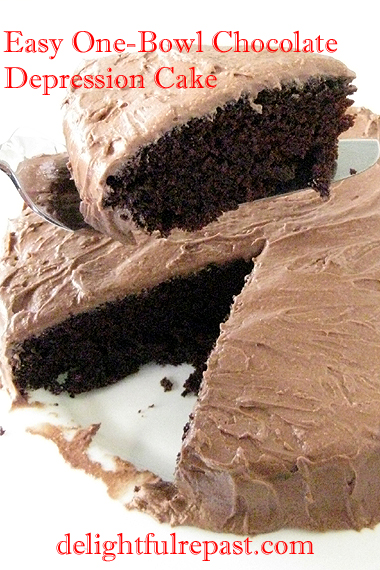 Easy One-Bowl Chocolate Depression Cake / www.delightfulrepast.com