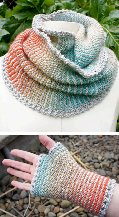 Prisma Loop Cowl Infinite Scarf - Free Knitting Pattern