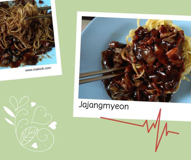 Mencicipi jajangmyeon di K-mie noodle bali