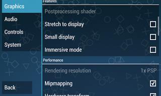 cara setting emulator PS2 / PSP 2
