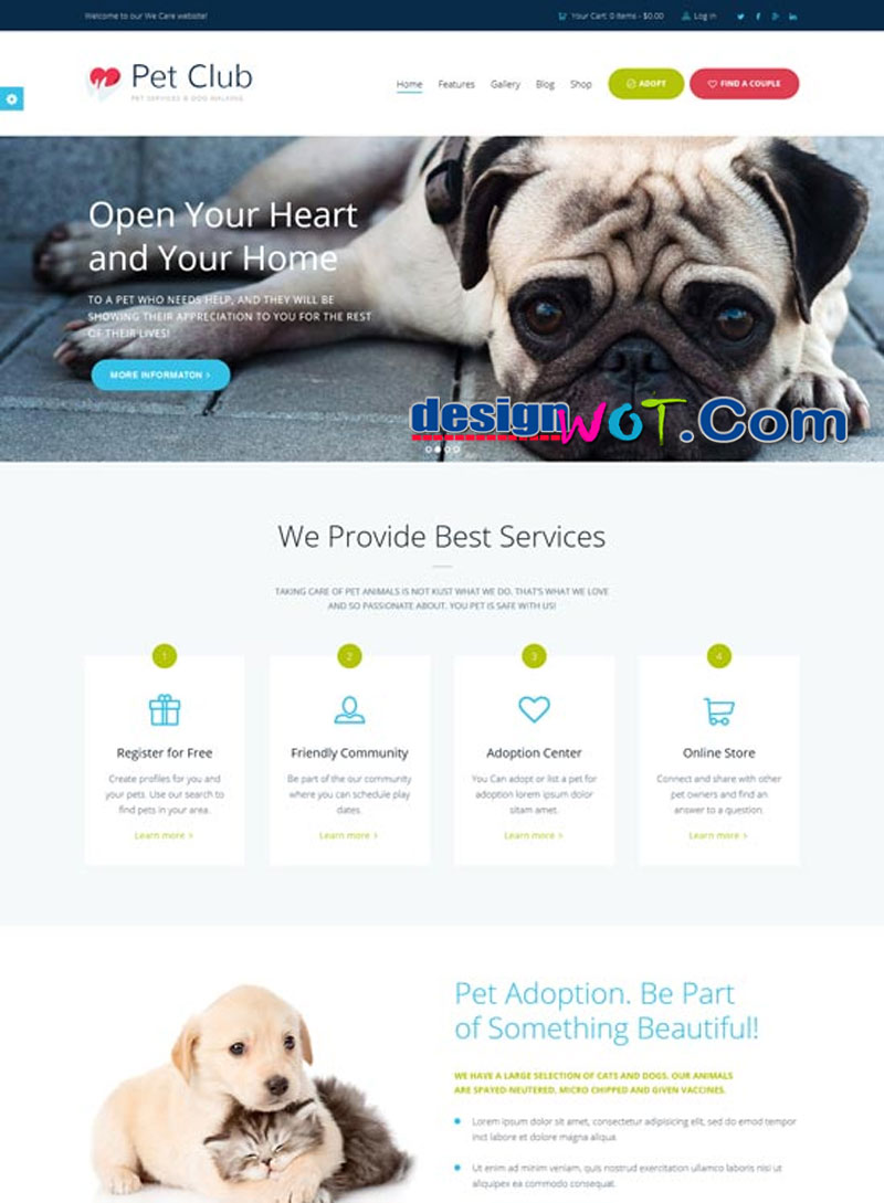 Pet Club - Services, Adoption, Dating & Community