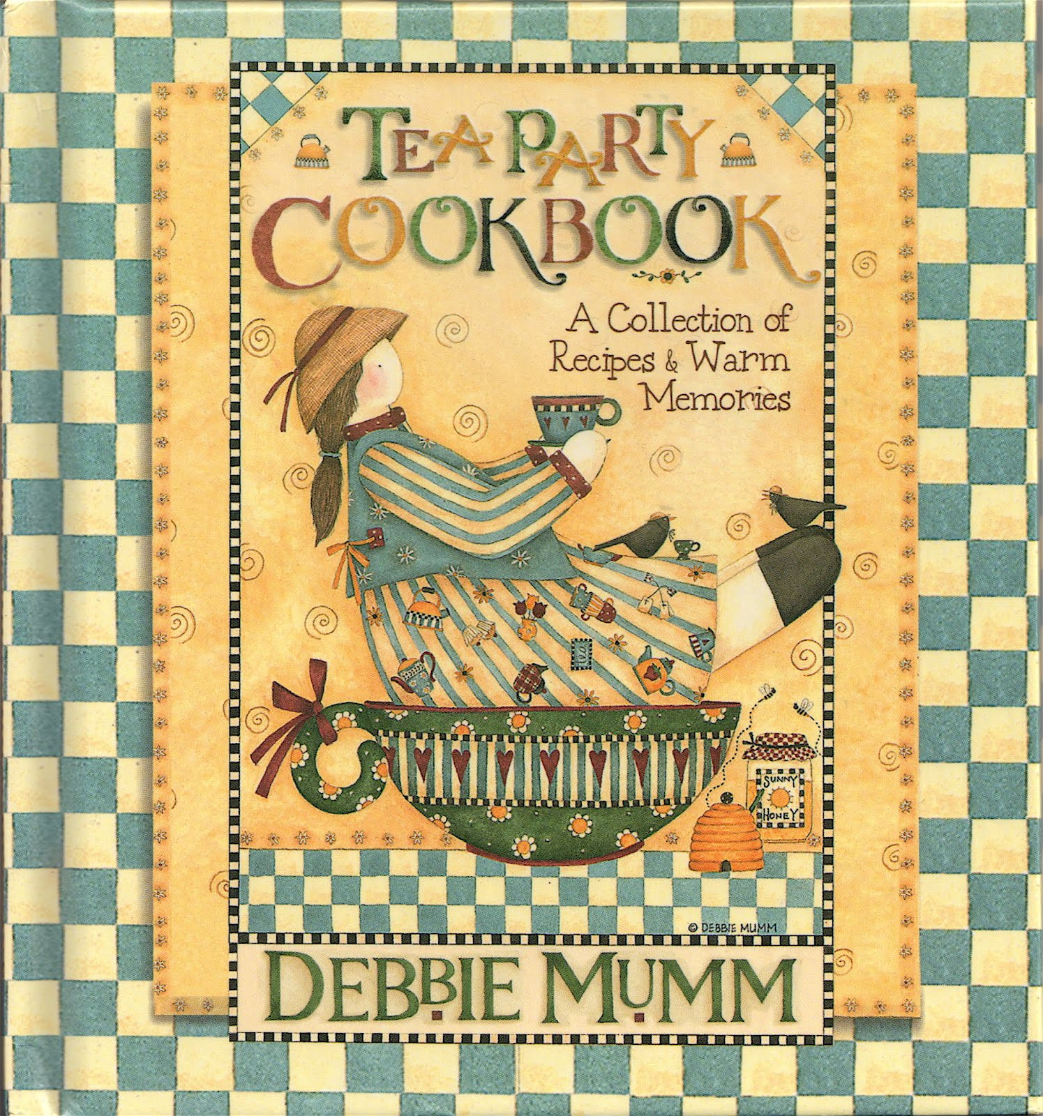 "Tea With Friends: Debbie Mumm - Debbie Mumm Teapot Kitchen Towels's ""Tea Party Cookbook"""