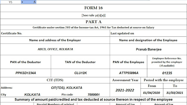 Income Tax Calculator for the Non-Govt Employees for the F.Y.2020-21