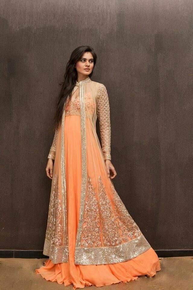17 Simple Lehenga With Floor Length Embellished Jaket