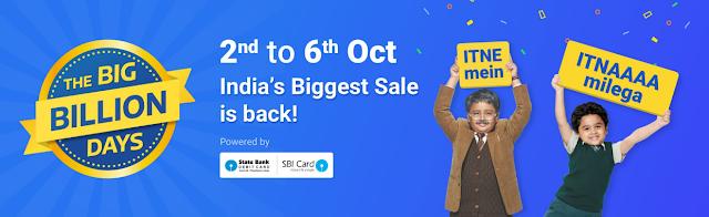 Flipkart Big Billion Days 2016 announced from 2nd October to 6th October | Complete Offer Details