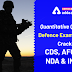 Quantitative Quiz for Defence Exam: Crack CDS, NDA, AFCAT, INET