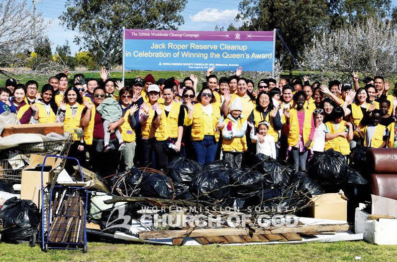 Cleanup at Jack Roper Reserve in Melbourne, Australia