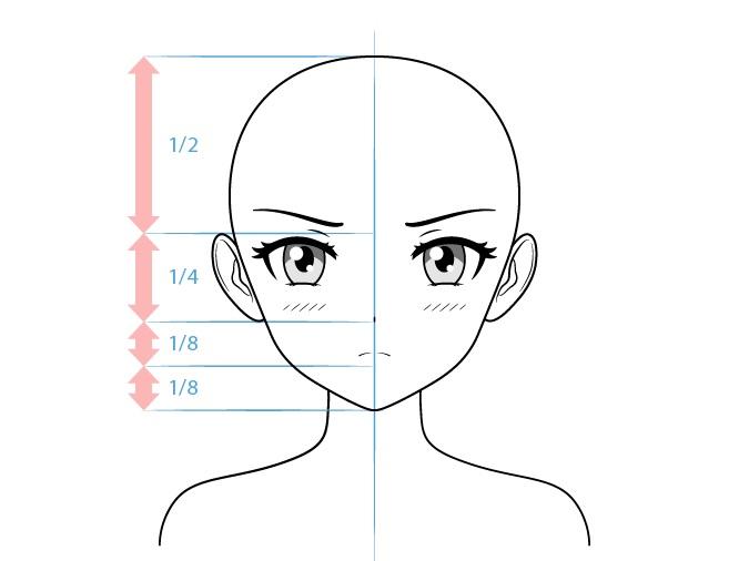 Anime tsundere karakter perempuan menggambar wajah marah