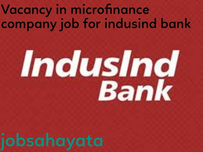 Microfinance company job in IndusInd Bank For Branch mangers