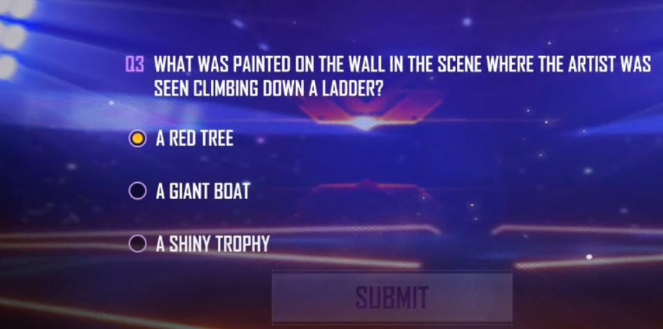 Dalam Adegan Artis Graffiti Duduk Untuk Bermain FF Apa Lukisan Yang Ada di Dinding