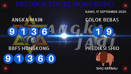 Prediksi Togel Angka Jitu Hongkong HK Kamis 17 September 2020