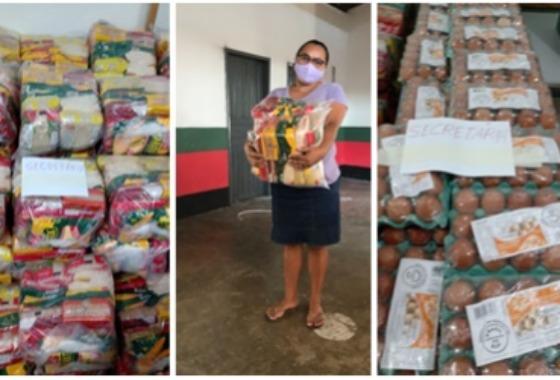 Prefeitura de Cacimba de Areia entrega Kit de Merenda escolar para alunos da rede municipal