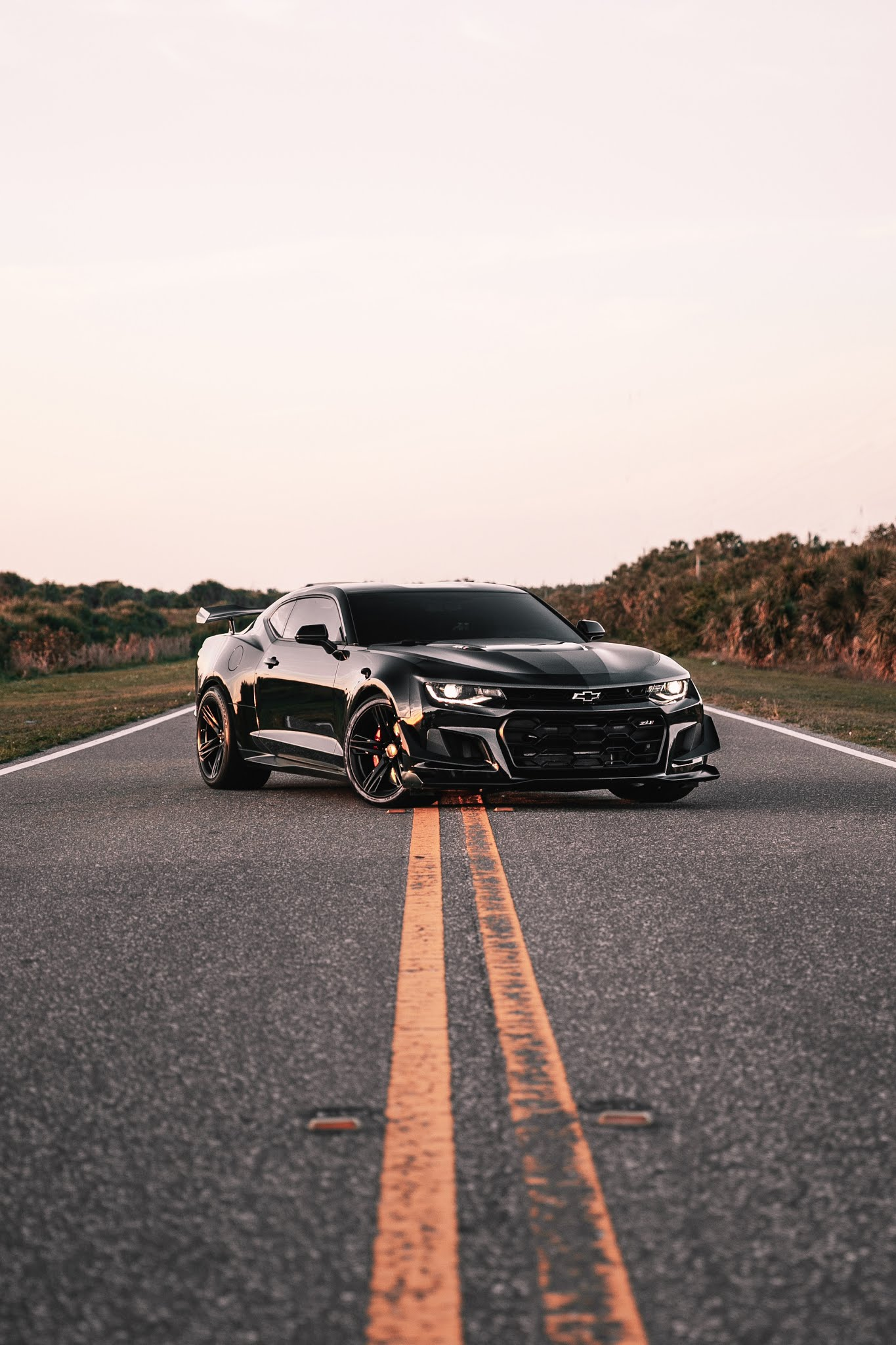 Black car on road - HD Mobile Walls