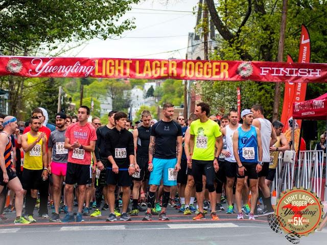 Yuengling Lager Jogger 5k starting line