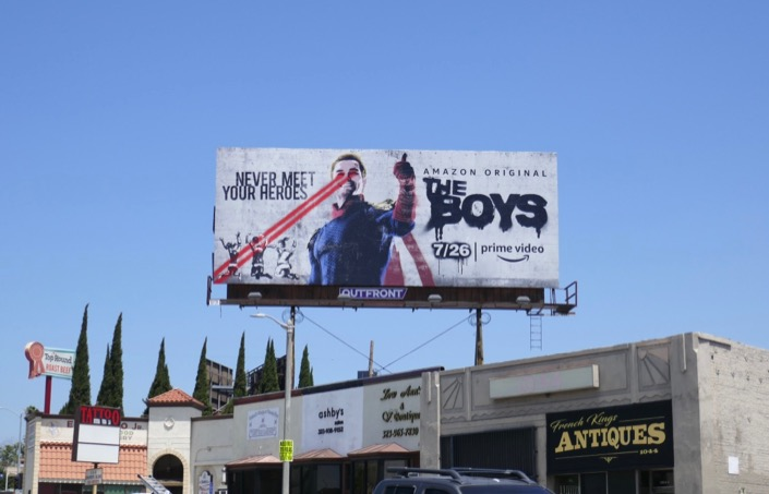 The Boys Homelander billboard