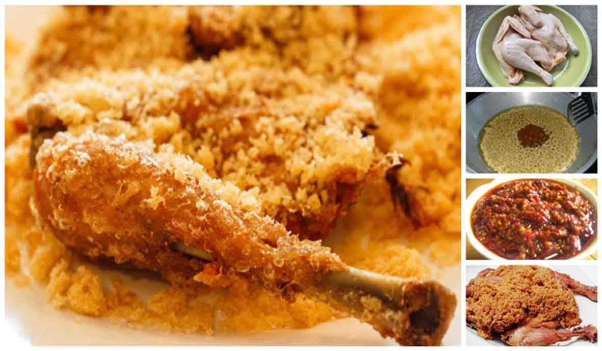 Resep membuat ayam goreng kremes ala Ny. Suharti