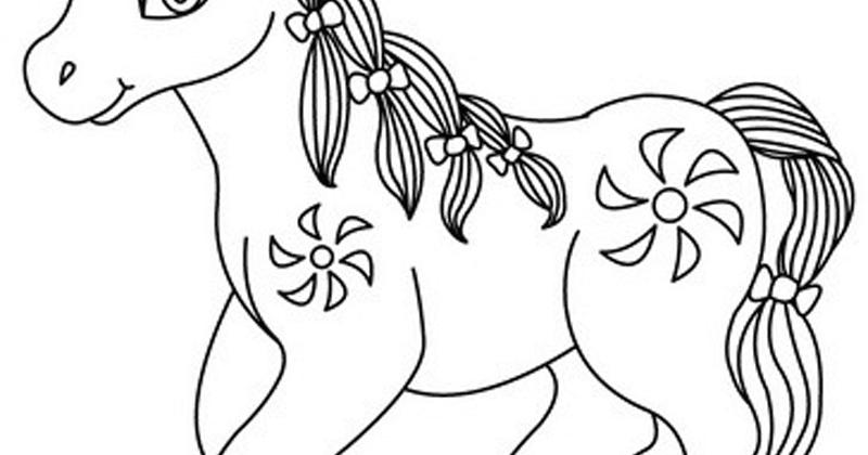 Mewarnai Kuda Poni Kartun