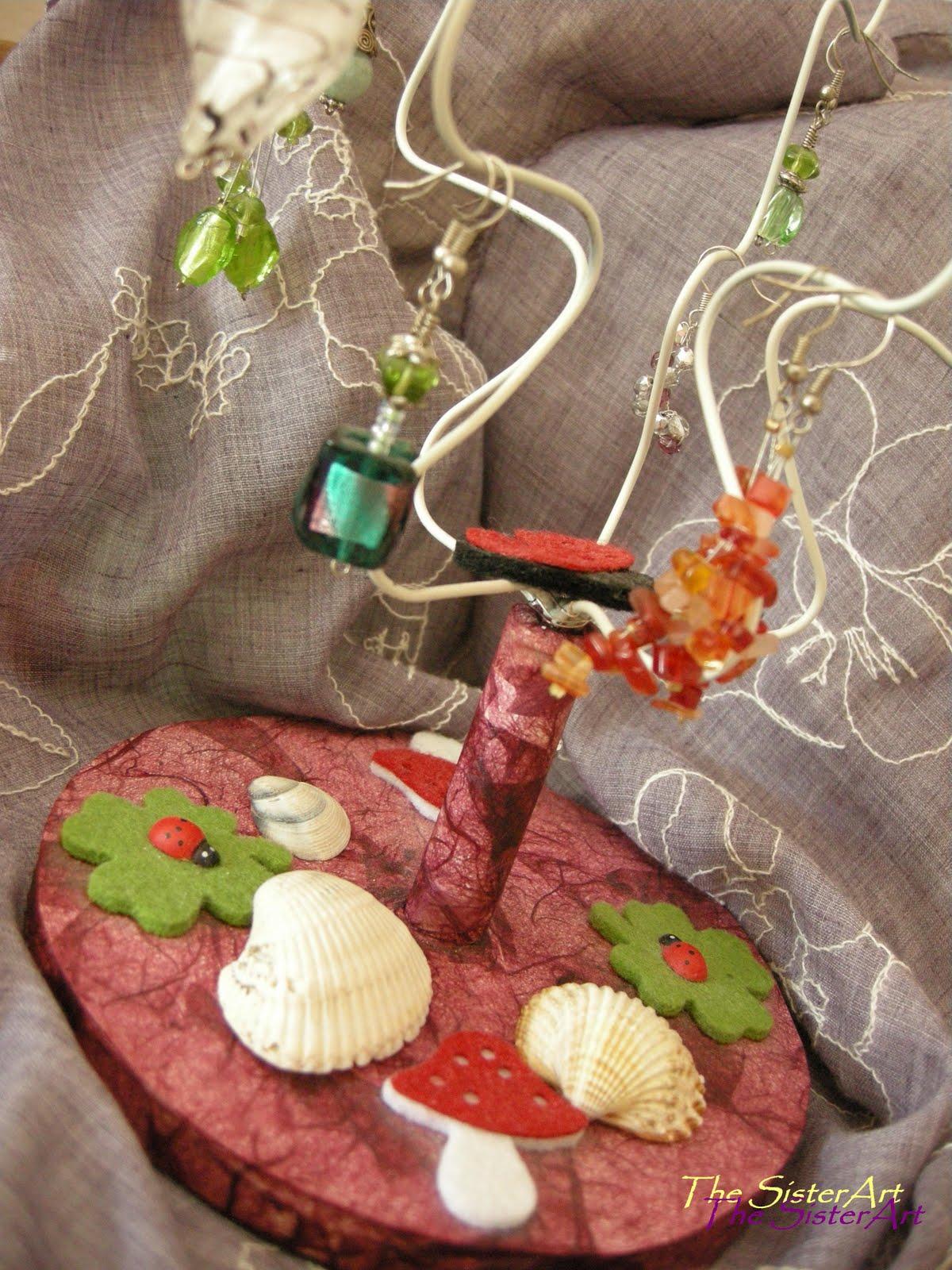 Idee Per Porta Orecchini the sisterart ..idee per creare: albero porta orecchini