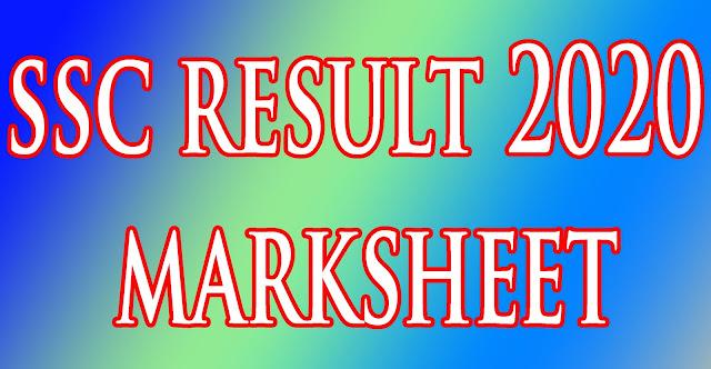 ssc result 2020 marksheet