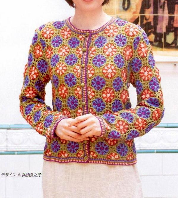 Women's Crochet Sweater - beautiful, looks like stained glass, crochet patterns are available