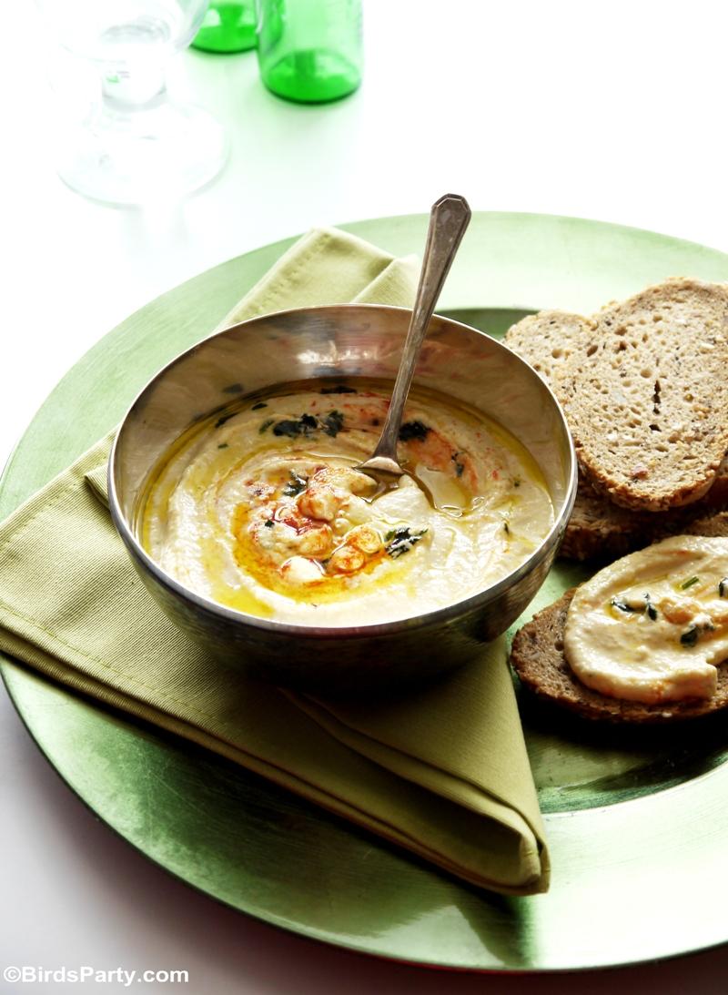 Creamy Chickpea Houmous Appetizer Recipe - BirdsParty.com