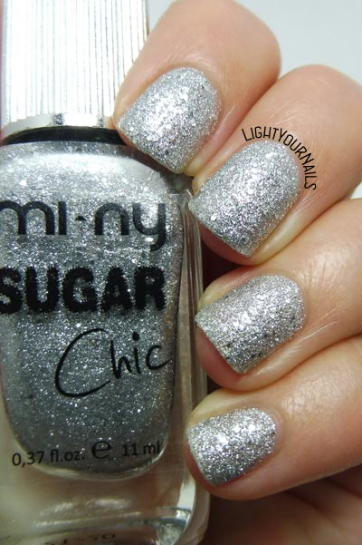 Mi-Ny Sugar Chic 11 Silver Glaze smalto nail polish #unghie #nails #miny #textured #lightyournails
