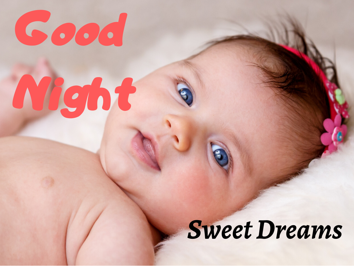 Cute Baby Good Night Images wallpaper photo hd download