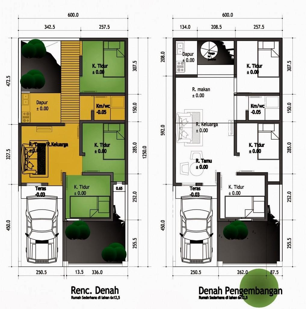gambar denah rumah kecil minimalis 4