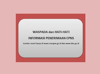 Pemerintah Belum Terbitkan Pengumuman Resmi Rekrutmen CPNS Formasi Umum Tahun 2017