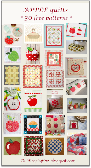 Free pattern day Apple quilts